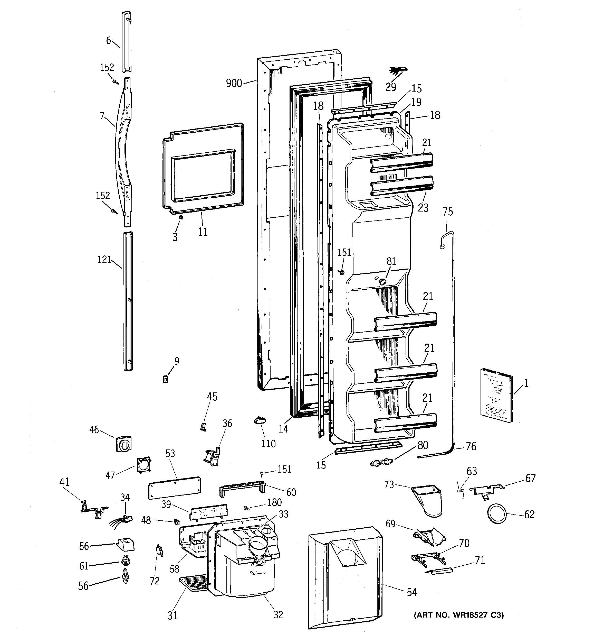 ge cafe refrigerator diagram