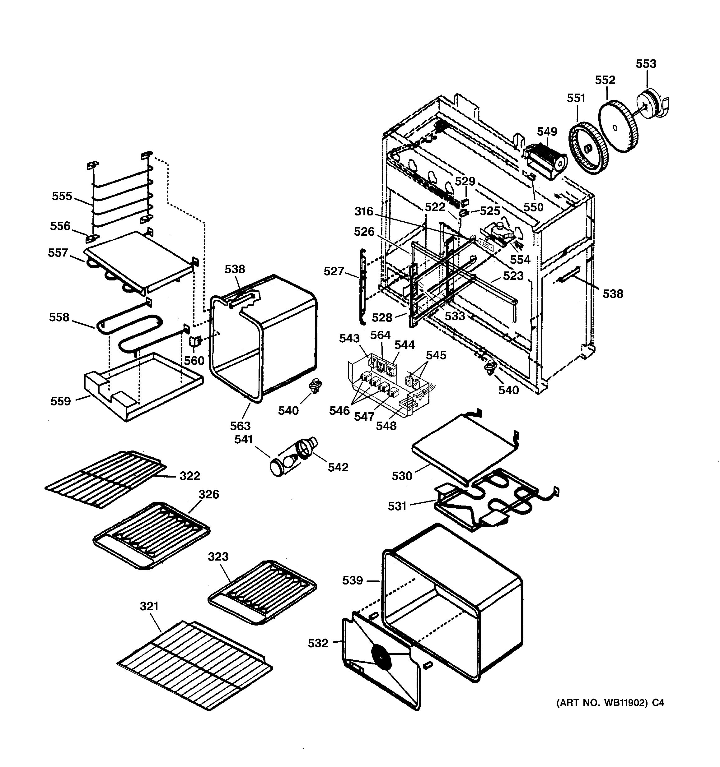 Assembly View For Oven Assembly Zdp48n4gd1ss