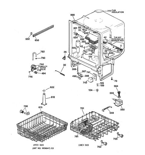model search gsd3410z04aa rh geapplianceparts com GE Potscrubber 650 Dishwasher GE Potscrubber Dishwasher Manual