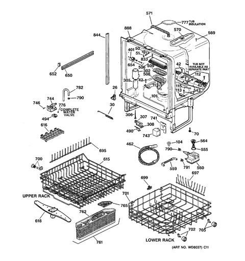 Model Search   GSD5360F00SS   Ge Dishwasher Schematic      GE Appliances Parts and Accessories