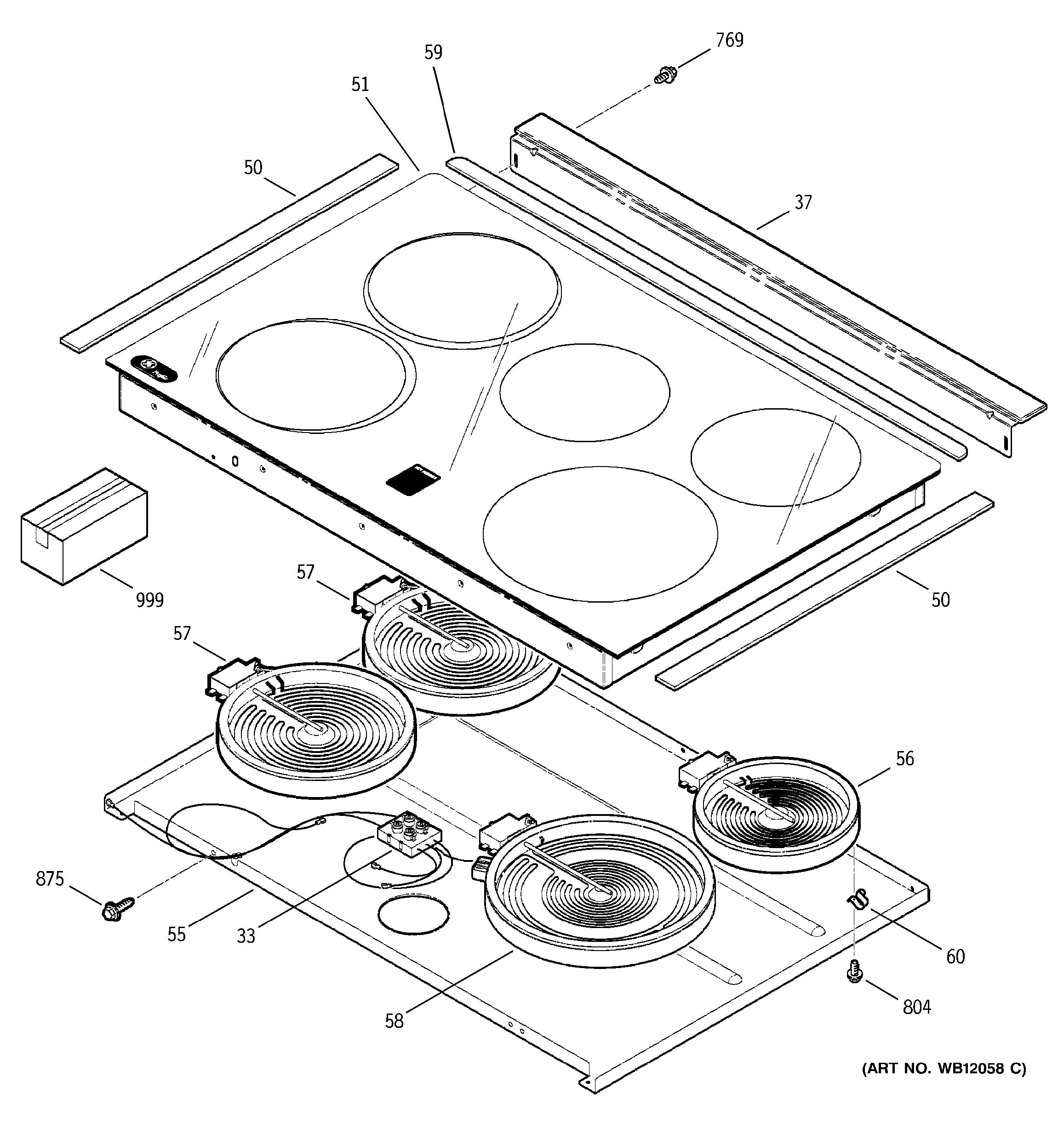 Assembly View For Cooktop