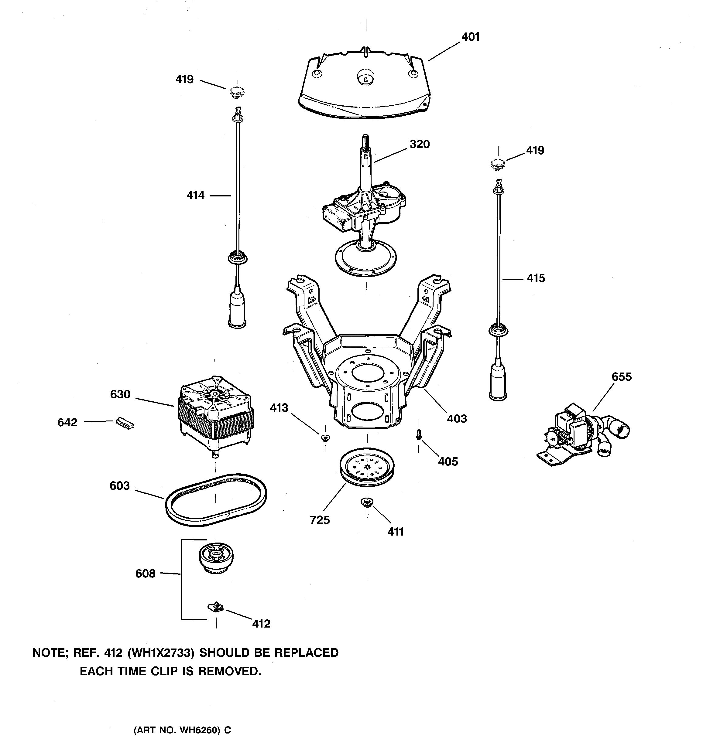 Assembly View For Suspension  Pump  U0026 Drive Components