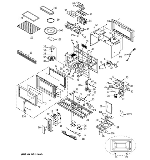 ge spacemaker xl1800 parts diagram