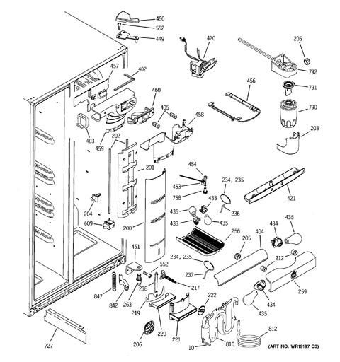 ge profile arctica refrigerator parts diagram free car wiring crosley wiring diagram model search pss25ngnaww rh geapplianceparts com ge refrigerator wiring diagram ge refrigerator wiring diagram