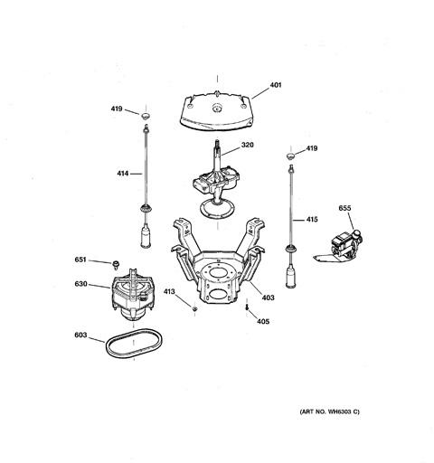 suspension, pump & drive components