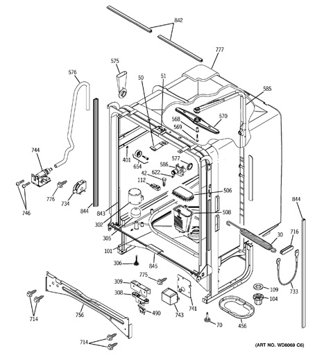 model search gsd6600g00bb rh geapplianceparts com GE Triton XL Dishwasher GE Triton XL Dishwasher Parts