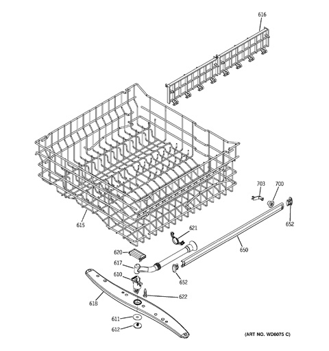 upper rack assembly