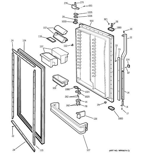 whirlpool conquest refrigerator parts diagram