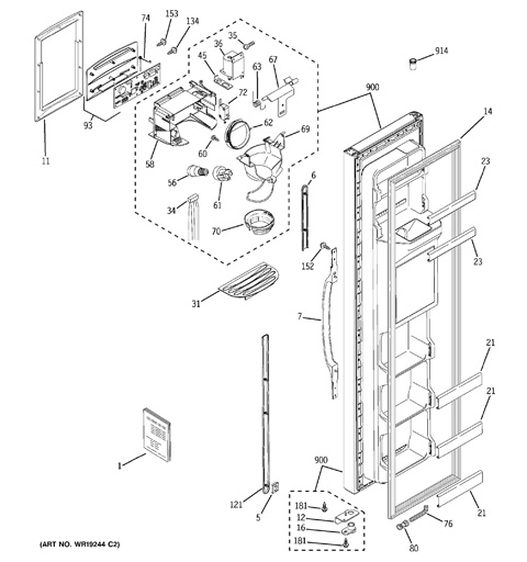Model Search   GSS20IEPAWW   Ge Refrigerator Wiring Diagram Gss20iepaww      GE Appliances Parts and Accessories