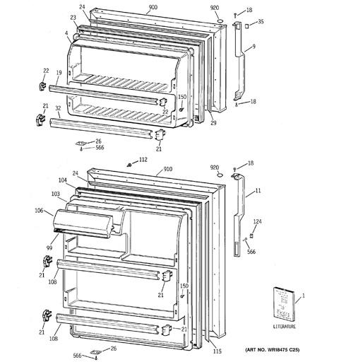 model search gts18hcmerww rh geapplianceparts com Whirlpool Refrigerator Wiring Diagram Commercial Refrigeration Wiring Diagrams