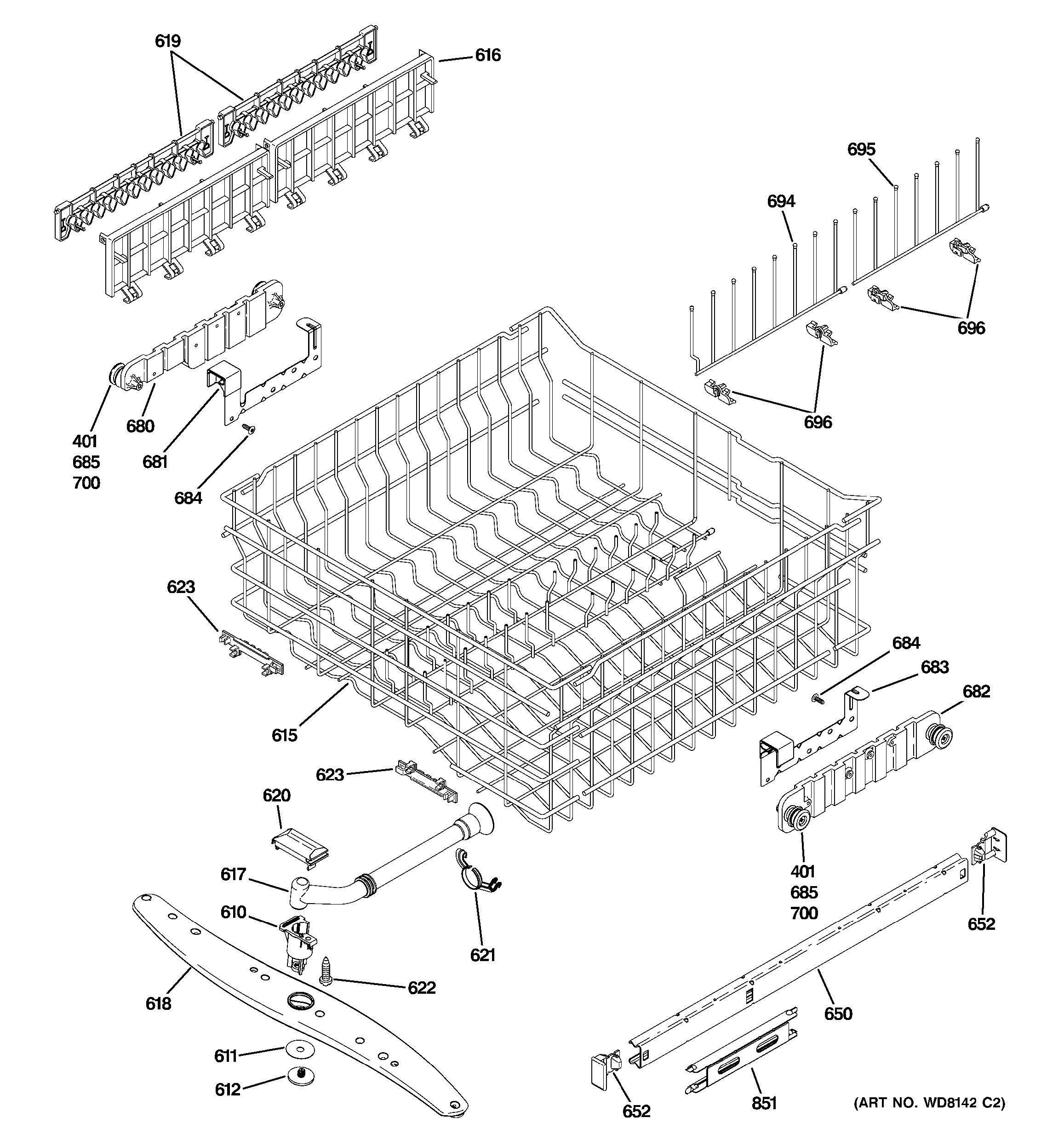 how to change dishwasher upper rack