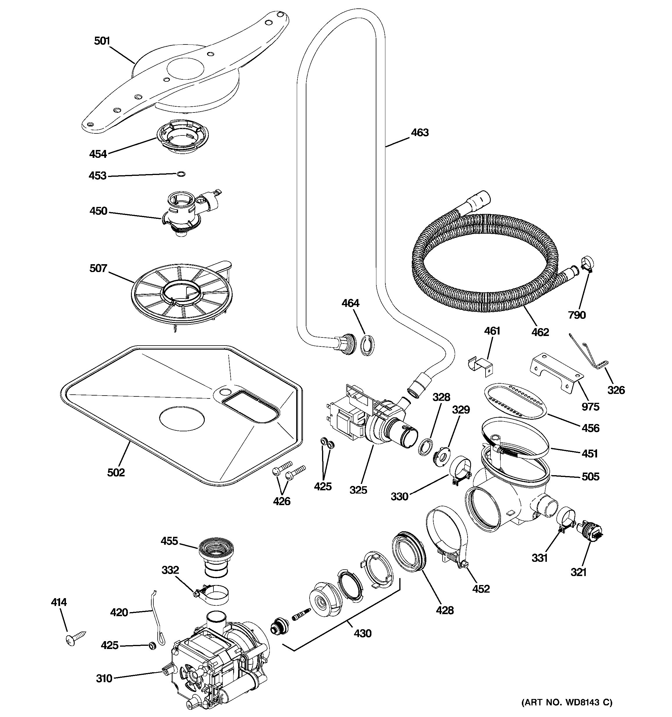 assembly view for motor