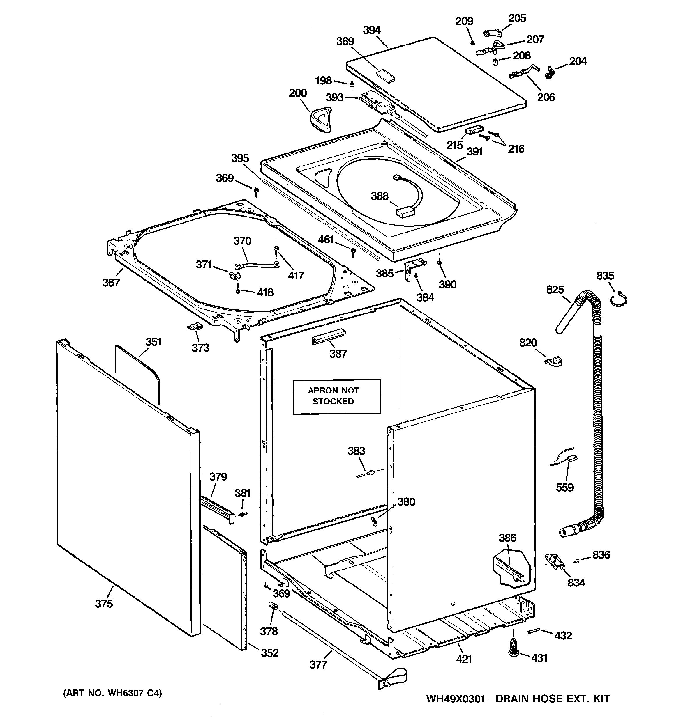 assembly view for cabinet  cover  u0026 front panel