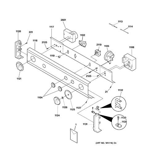 parts general diagram dryer electric dde5300bblad  general