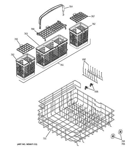 ge triton xl dishwasher parts manual