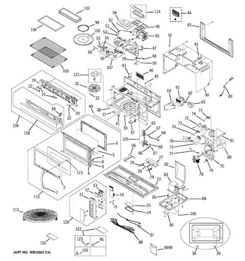 Ge Profile Microwave Parts Diagram Bestmicrowave