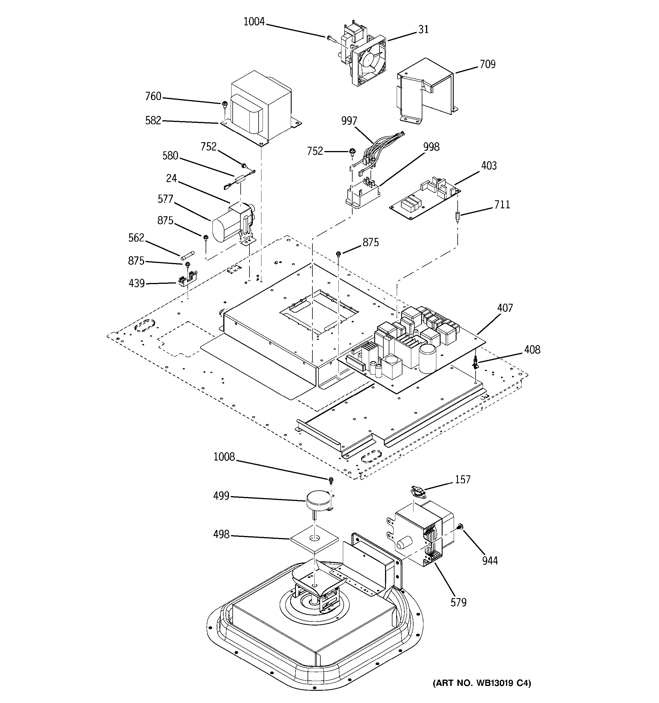 assembly view for control section