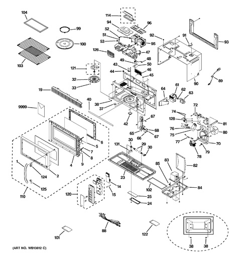 Ge Microwave Parts Diagram
