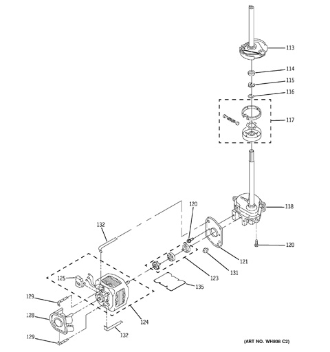 ge spacemaker washer diagram