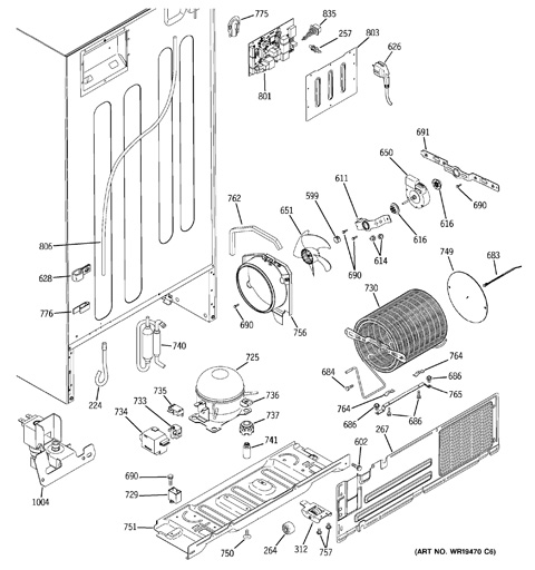 schematic refrigerator diagram ge tbx24z1 idea of life part 791  idea of life part 791