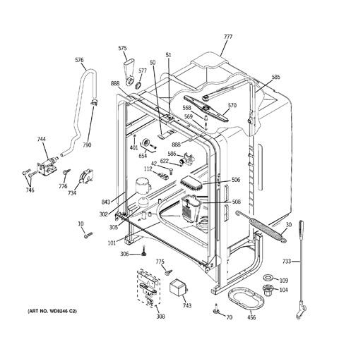 on ge dishwasher gld4560n10ss wiring diagram