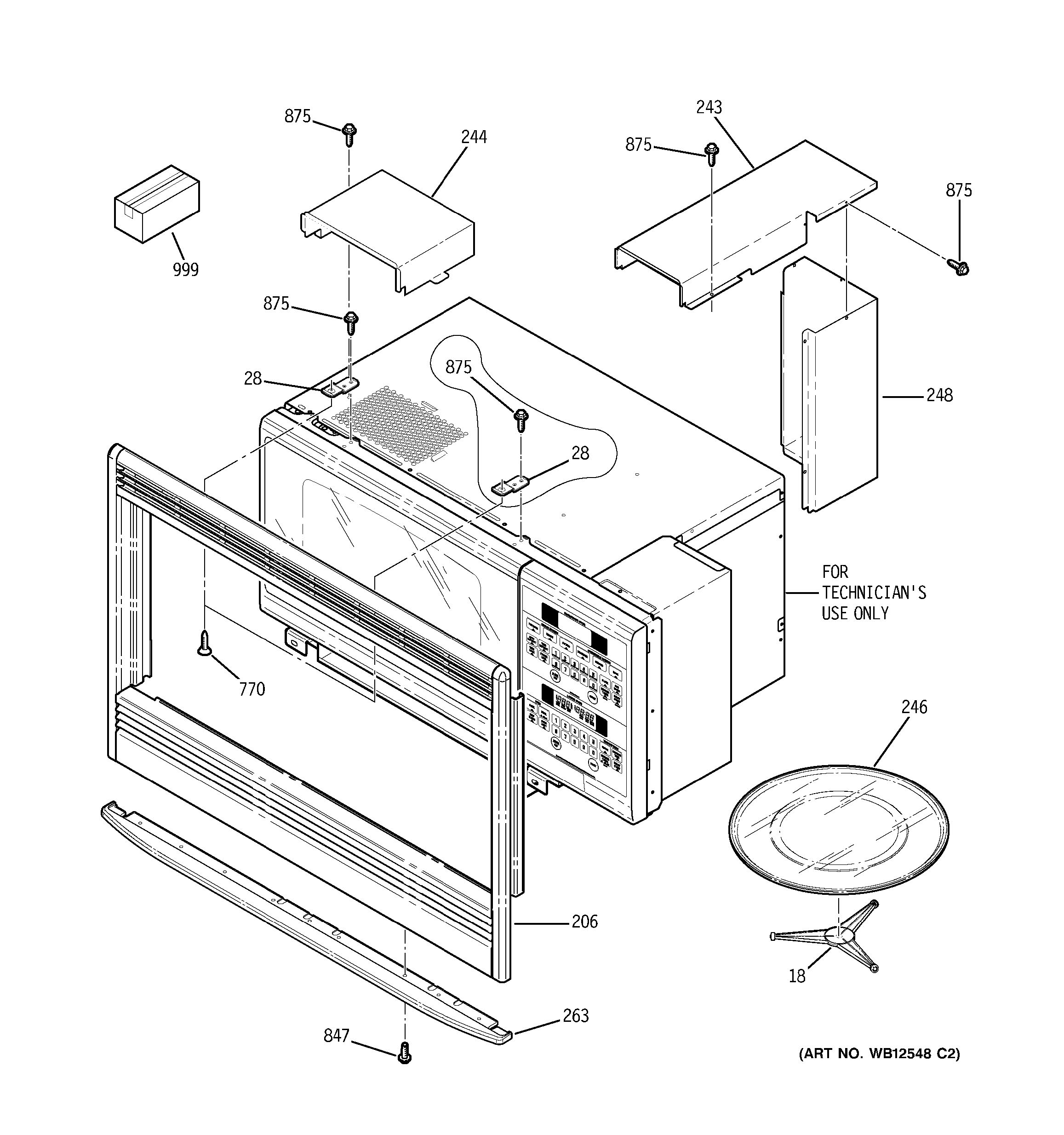 assembly view for microwave enclosure jtp86cf4cc. Black Bedroom Furniture Sets. Home Design Ideas