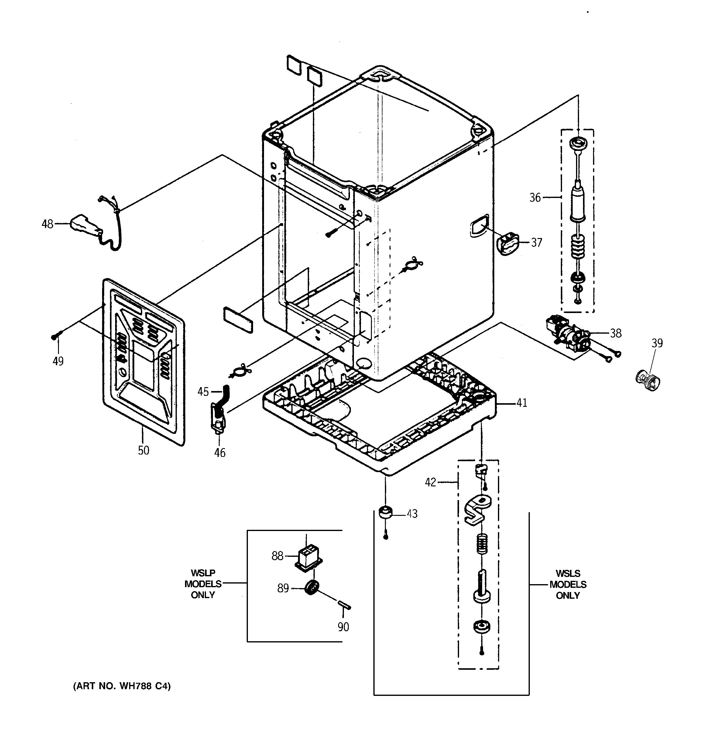 Assembly View For Cabinet Amp Base Wsls1100d0ww