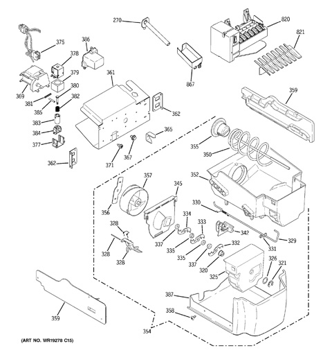 Ge Adora Ice Maker Diagram