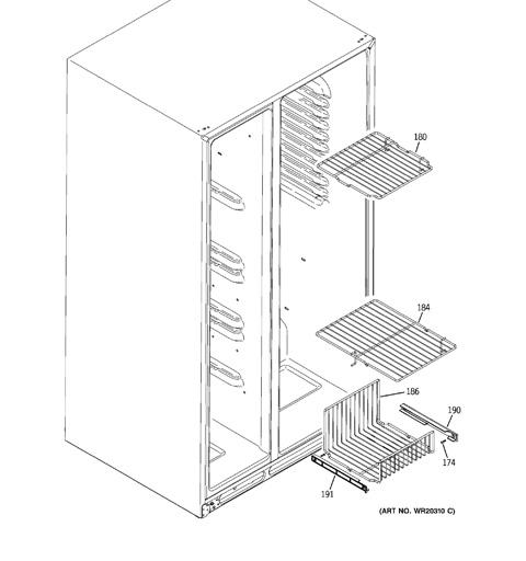 freezer shelves
