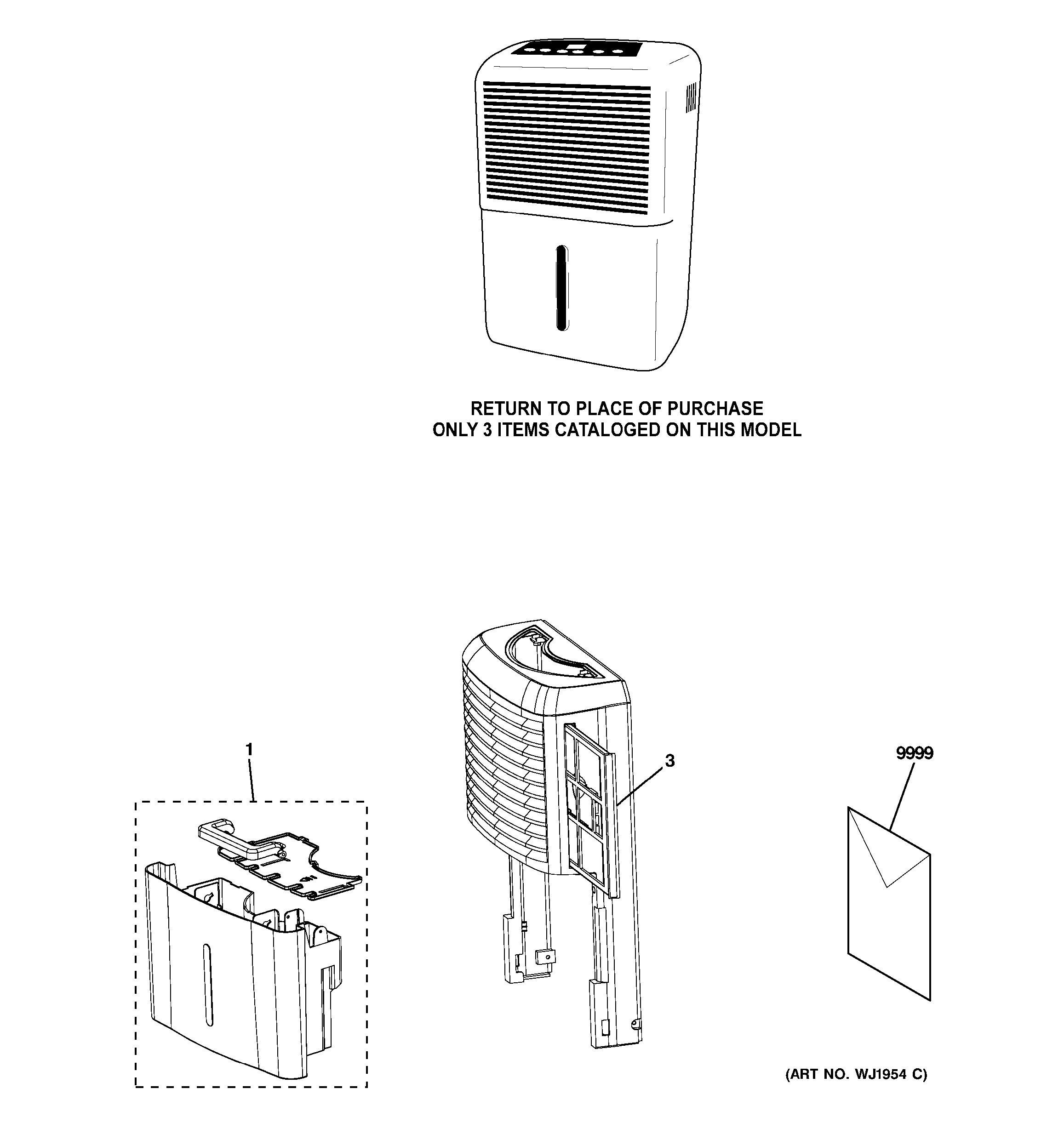 dehumidifier parts diagram