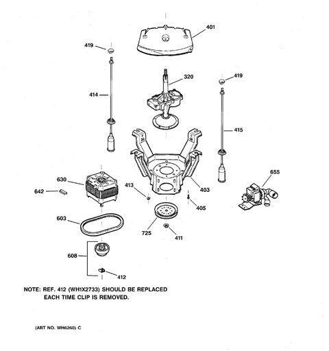 model search wpse4200a0ww suspension pump drive components