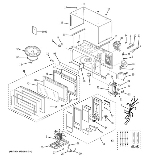 Ge Profile Spacemaker Microwave Parts Engine Diagram And