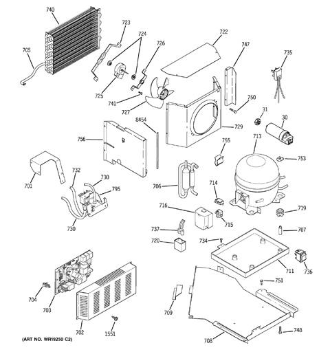 P on Ge Monogram Refrigerator Parts Diagram