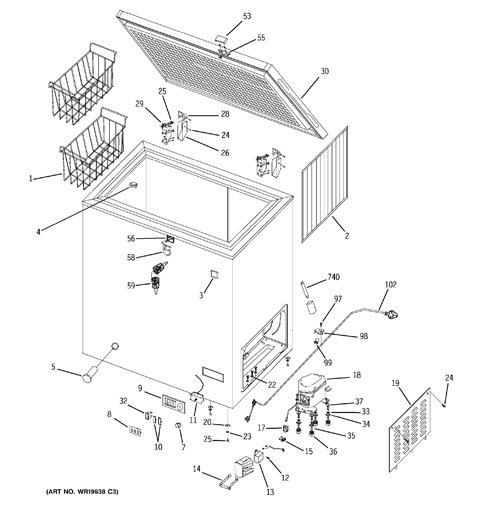 Freezer Schematic Diagram