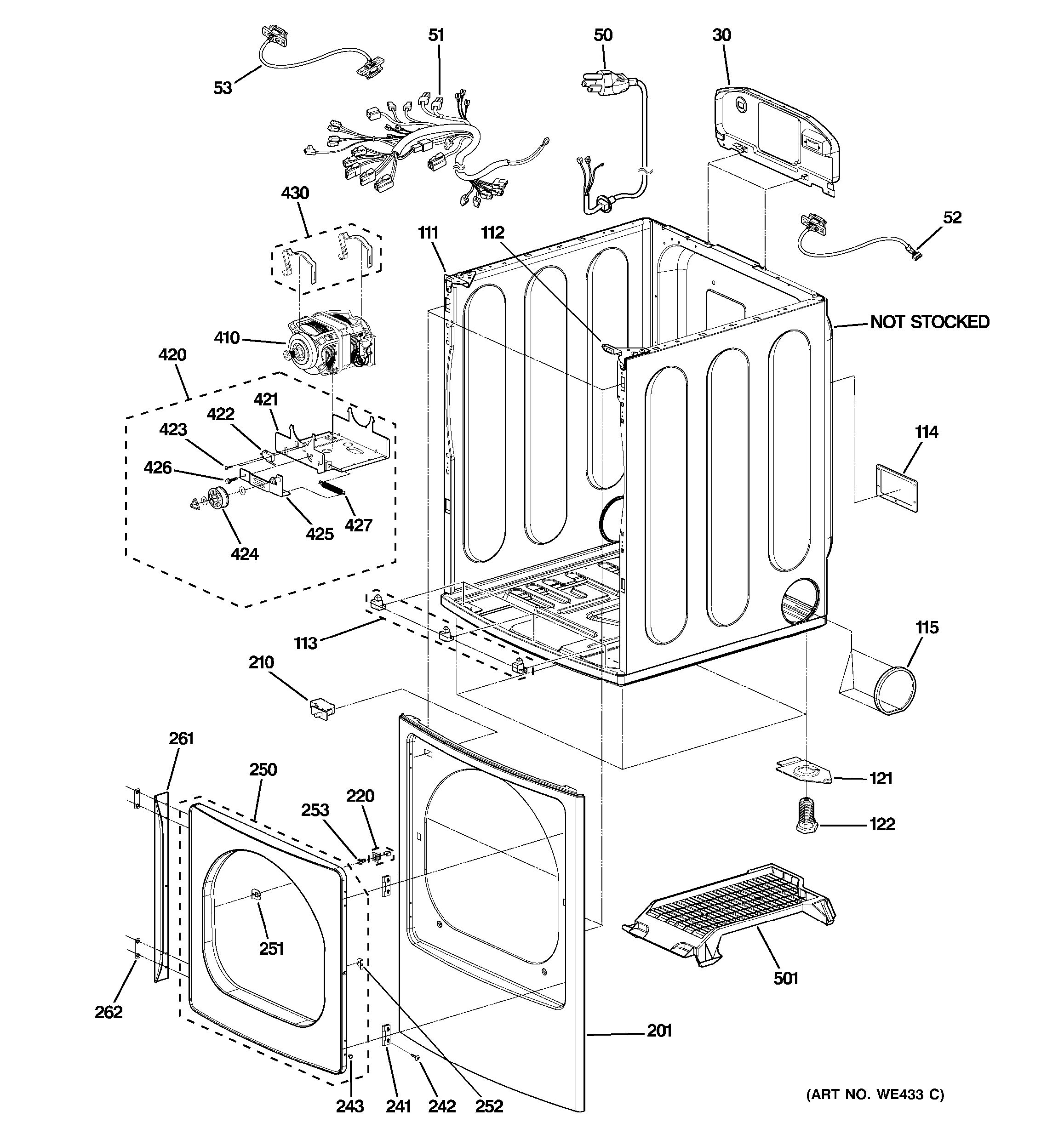 assembly view for cabinet  front panel  u0026 door