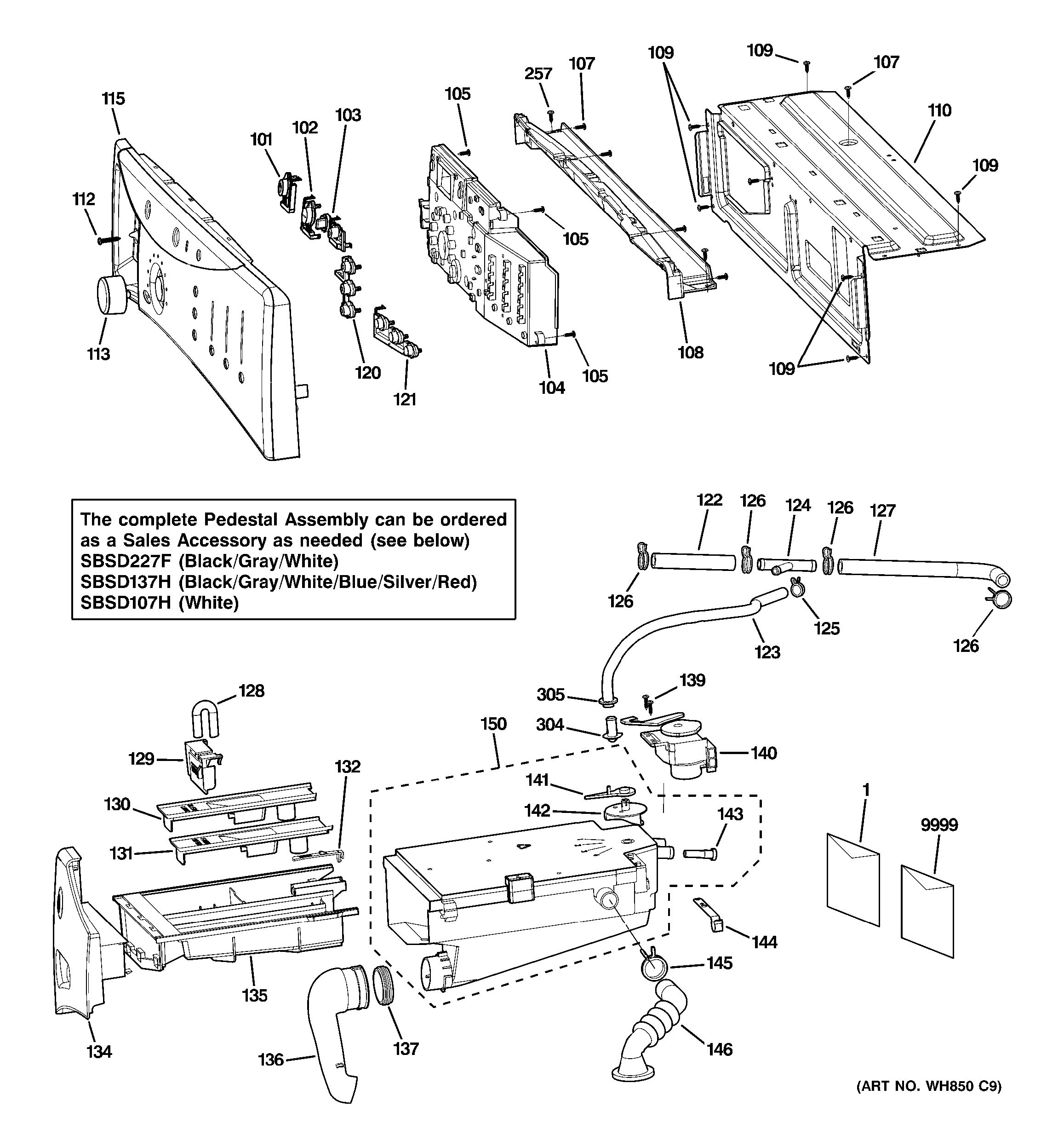 assembly view for controls  u0026 dispenser