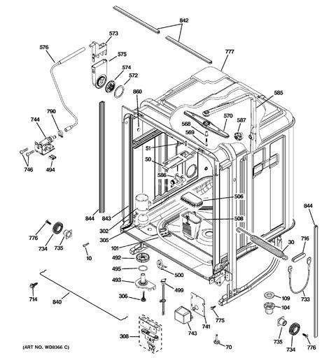 model search pdwt380r10ss rh geapplianceparts com GE Profile Dishwasher Stainless Steel GE Profile Dishwasher Black