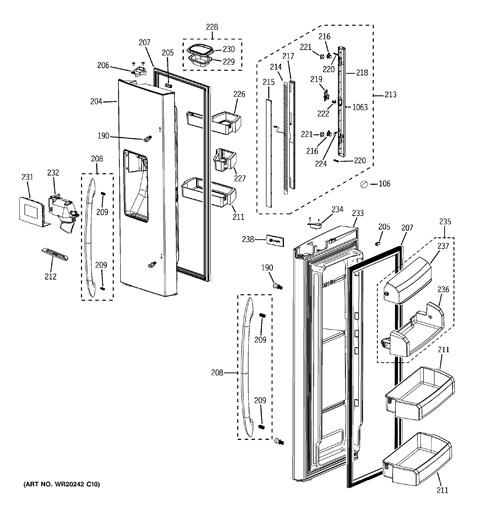 on ge refrigerator wiring diagram pfss6pkxcss