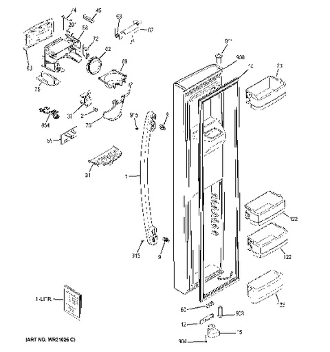 Wiring Diagram For Ge Cafe Stove on Ge Profile Refrigerator Fan