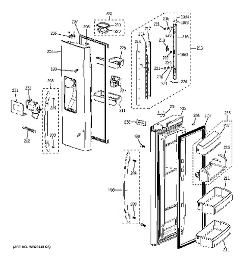 Wiring diagram ge side by refrigerators the
