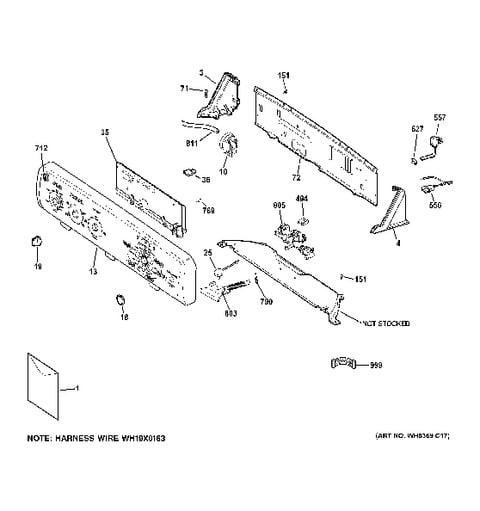 P on Ge Profile Dryer Parts Diagram