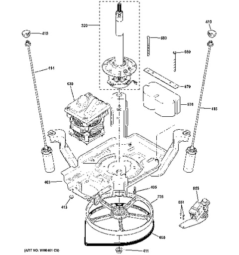 P on General Electric Dryer Parts Diagram