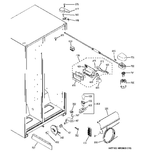 ge refrigerator water dispenser diagram