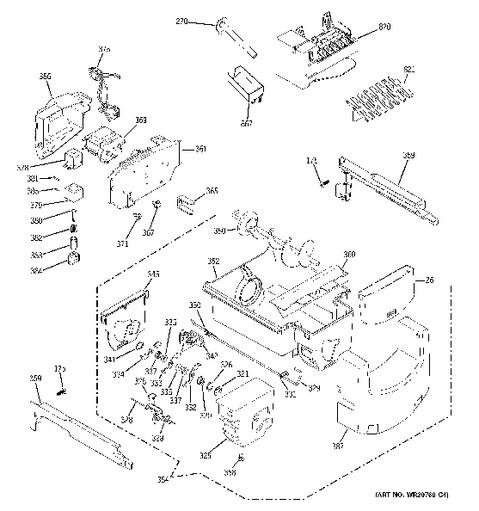 Ge Adora Refrigerator Parts Diagram