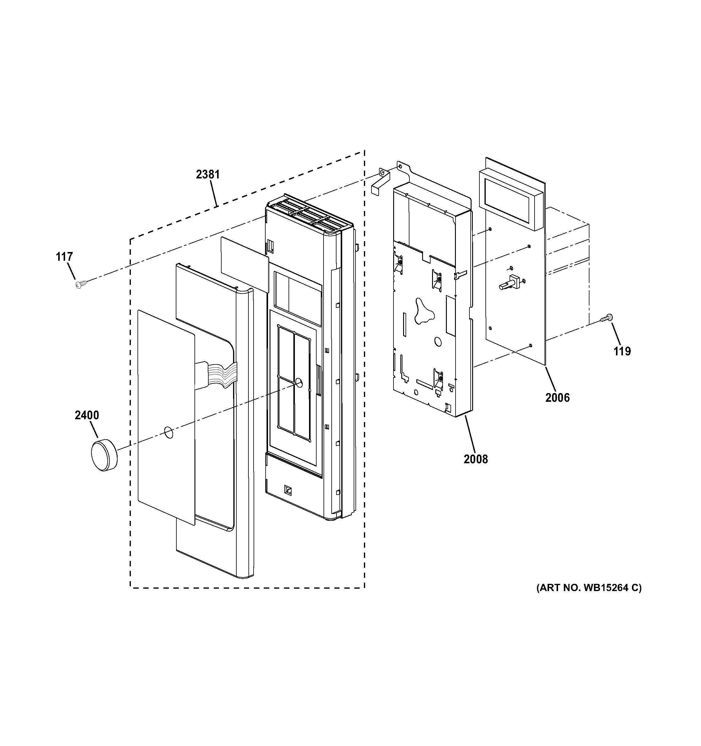 ge microwave control panel