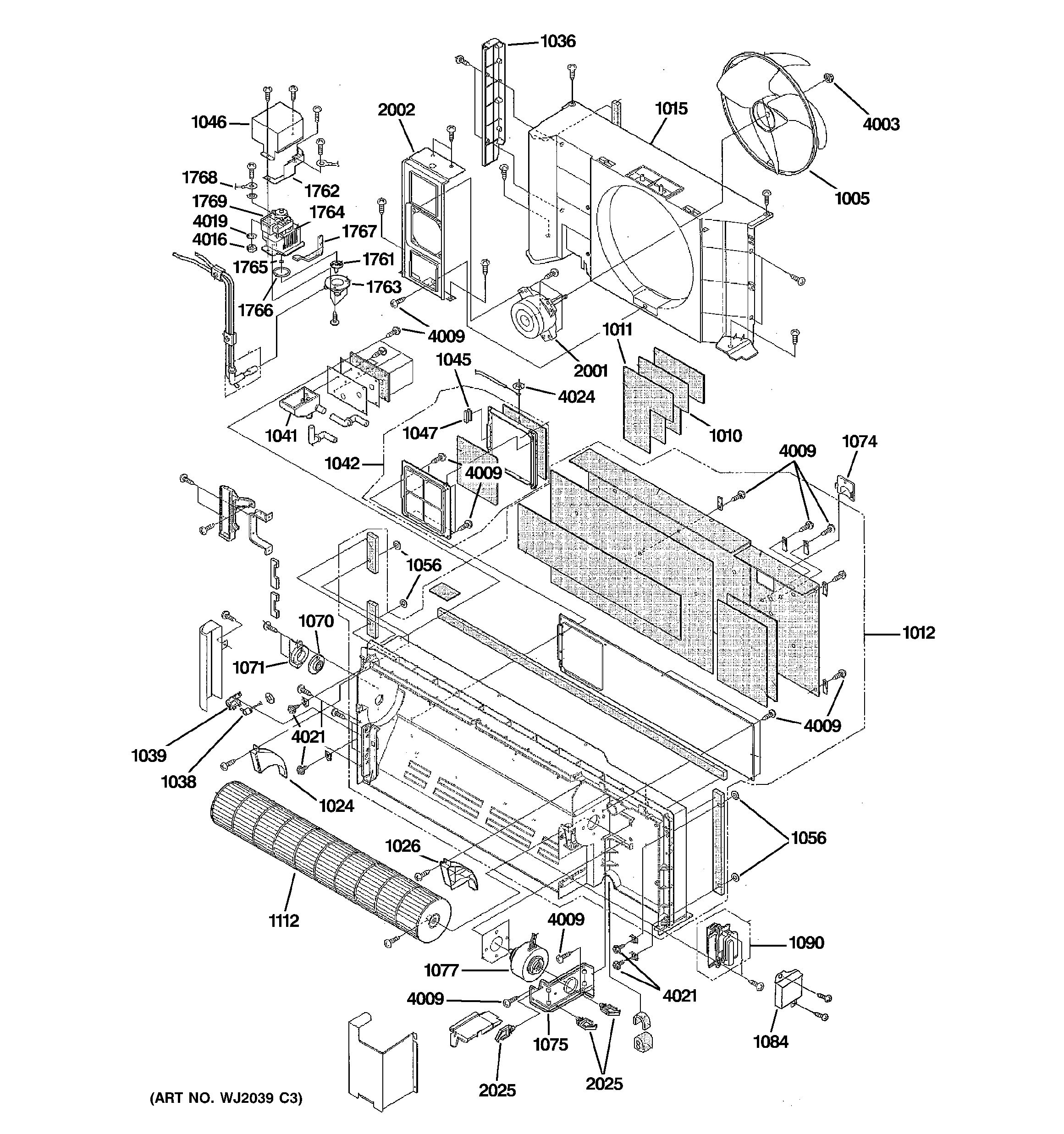 assembly view for motor  u0026 chasis parts