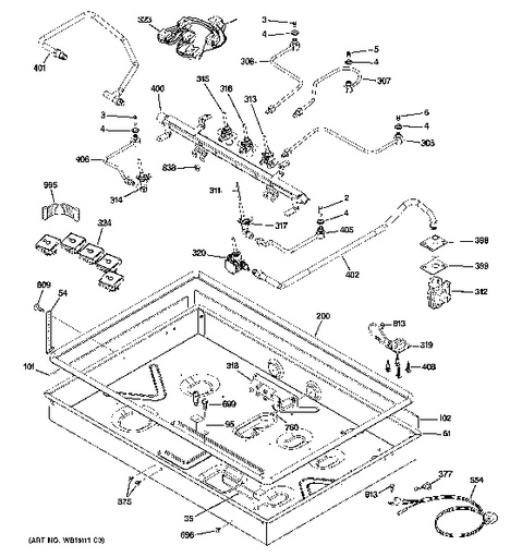 gas cooktop schematic model search pgp976set1ss  model search pgp976set1ss