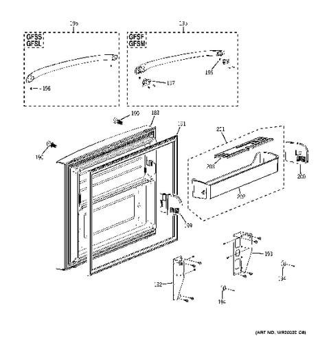 Model Gfsf6kkycbb Ge Refrigerator Schematic Diagram - Best ... on