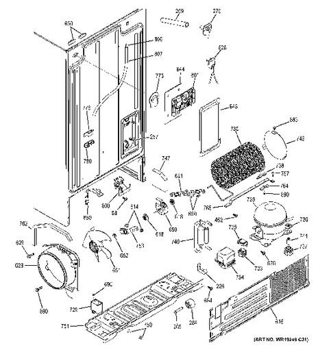 ge dryer parts diagram