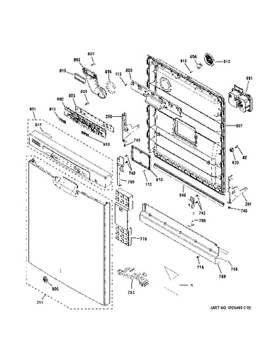 model search gdf520pgd2ww Attic Fan Thermostat Wiring Diagram escutcheon door assembly